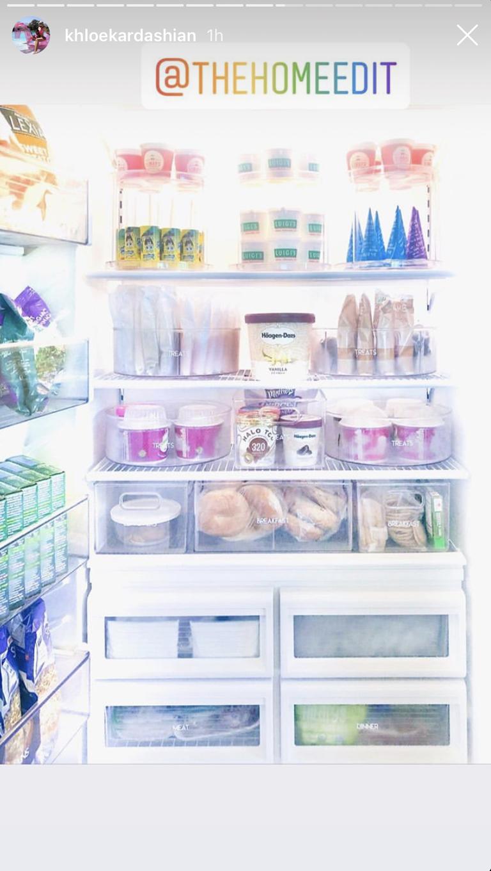 Khloe Kardashian freezer via Instagram
