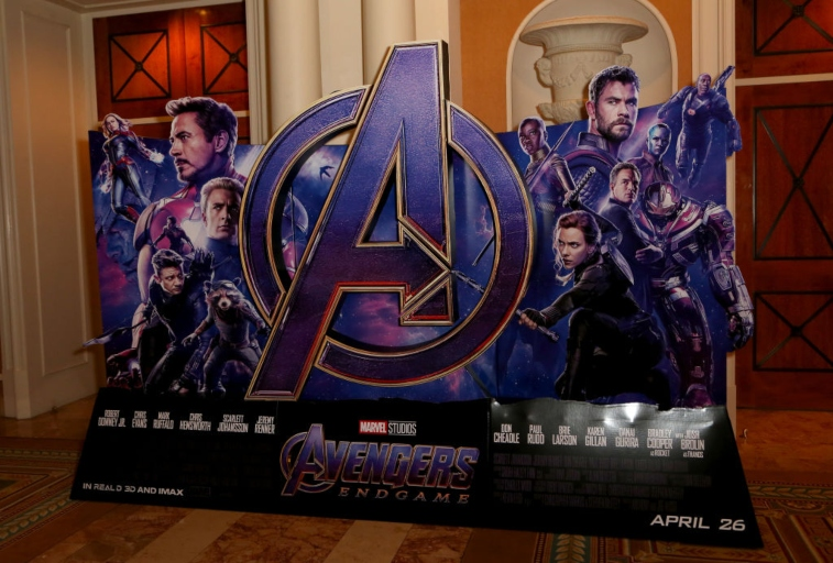 'Avengers: Endgame' promotional display.