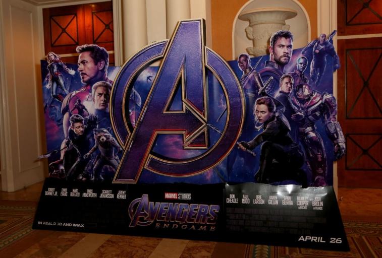 'Avengers: Endgame' promotional display.