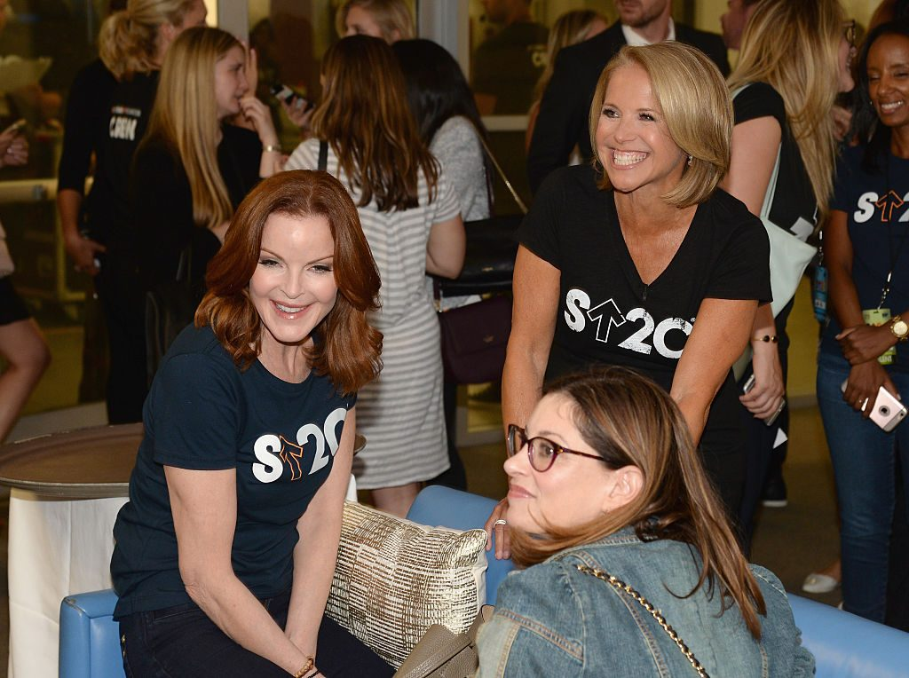 Marcia Cross (L) and Stand Up To Cancer Co-founder Katie Couric (R) attend Stand Up To Cancer (SU2C) fundraiser | Kevin Mazur/American Broadcasting Companies Inc via Getty Images