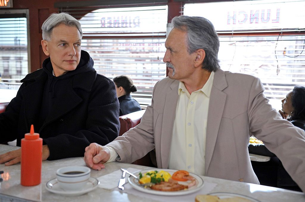 looks like someone tried to mess with Gibbs' coffee | Richard Foreman/CBS (Photo by CBS via Getty Images