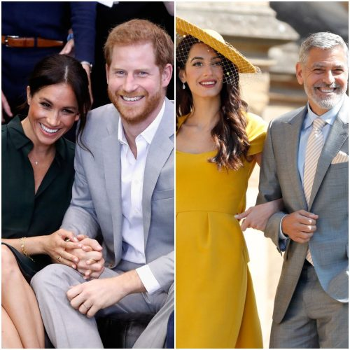 Meghan Markle, Prince Harry,  George and Amal Clooney.