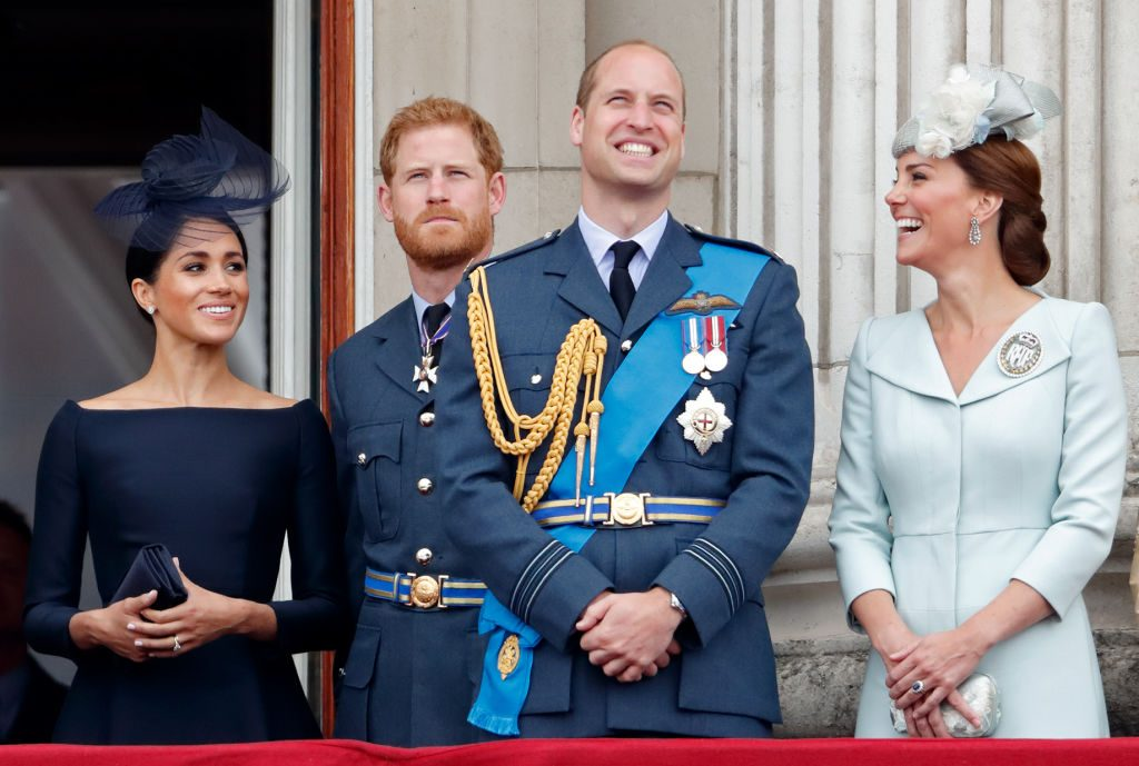 Meghan Markle Prince Harry Prince William Kate Middleton Attend Events To Mark The Centenary Of The RAF