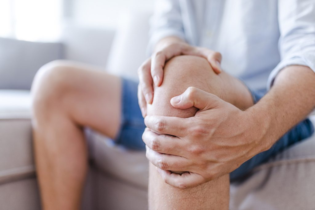 A mature man with achy knee
