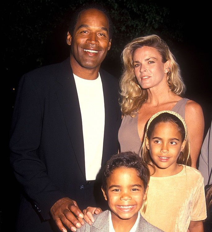 O.J. Simpson and Nicole Brown Simpson with their children Sydney and Justin
