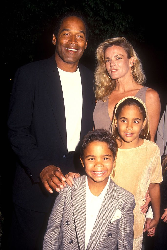 O.J. Simpson and Nicole Brown Simpson with their kids Justin and Sydney