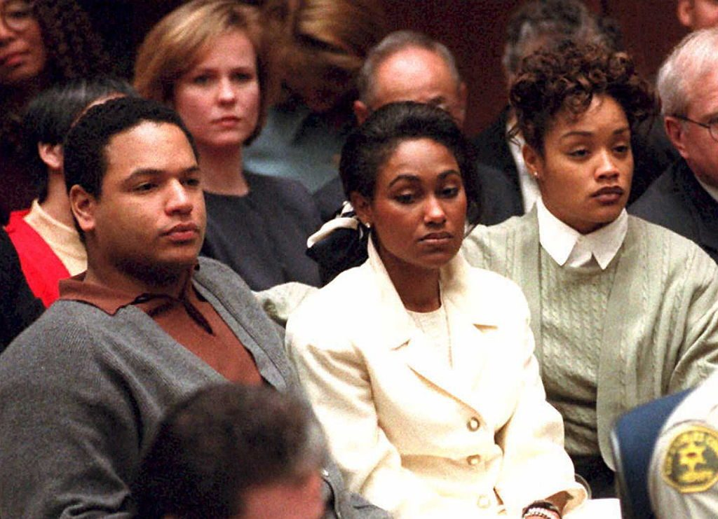 O.J. Simpson's children from his first marriage, Jason and Arnelle