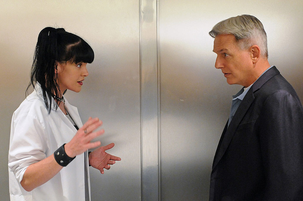 Pauley Perrette and Mark Harmon