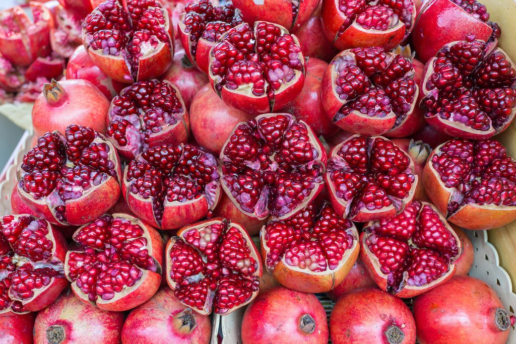 Colorful red pomegranate