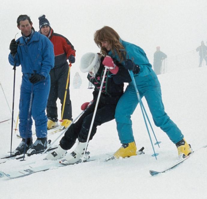 Prince Charles, Princess Diana, Sarah Ferguson, and Prince Andrew