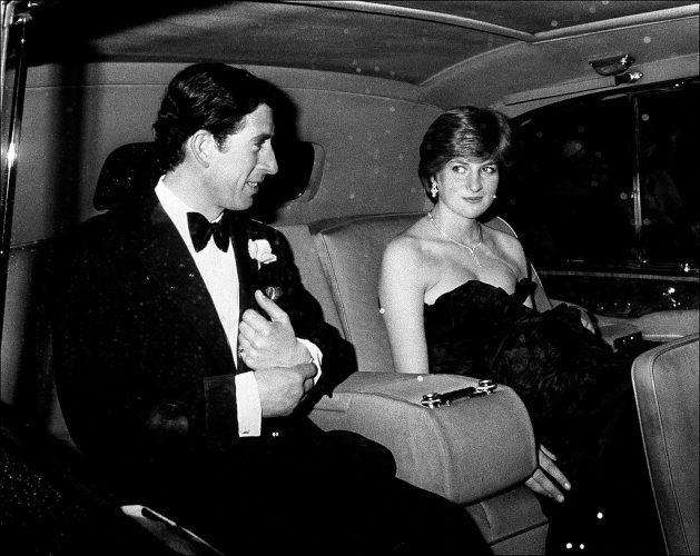 Princess Diana and Prince Charles arrive at gala