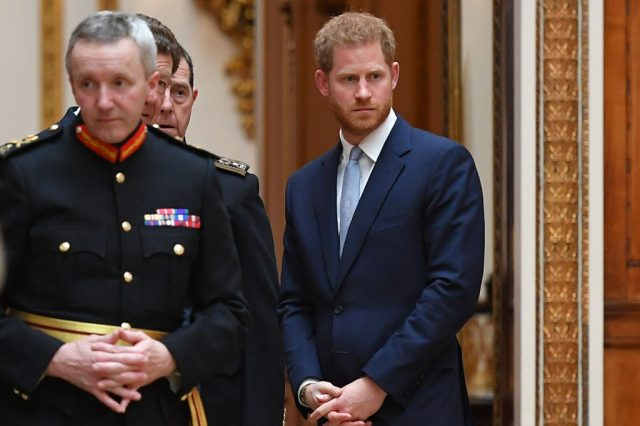 Prince Harry during Donald Trump's visit to the UK.