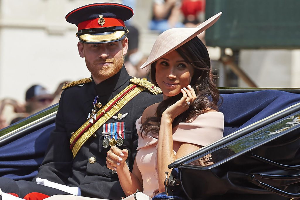 Prince Harry and Meghan Markle Trooping the Colour