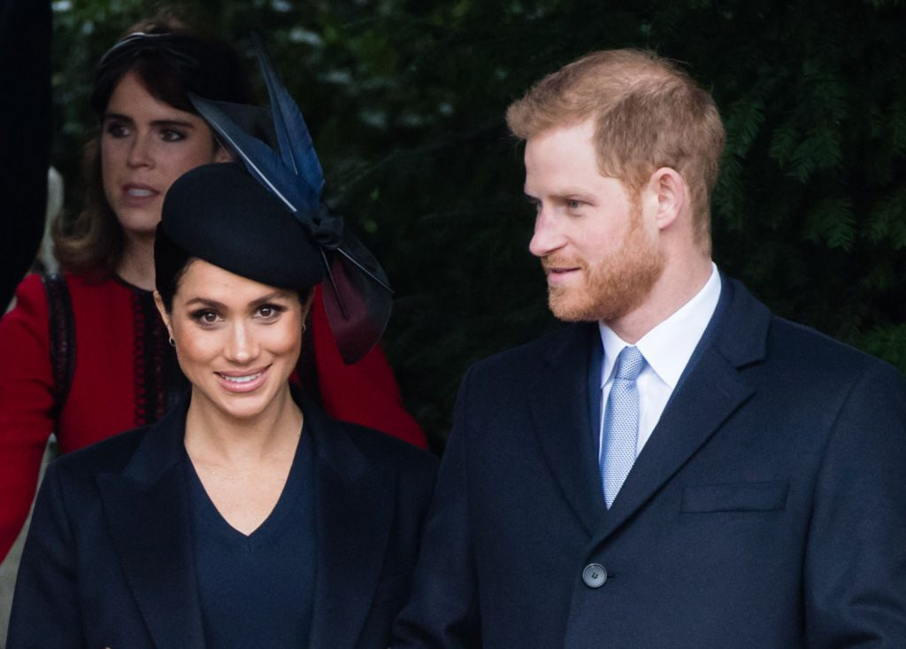 Prince Harry and Meghan Markle The Royal Family Attend Church On Christmas Day