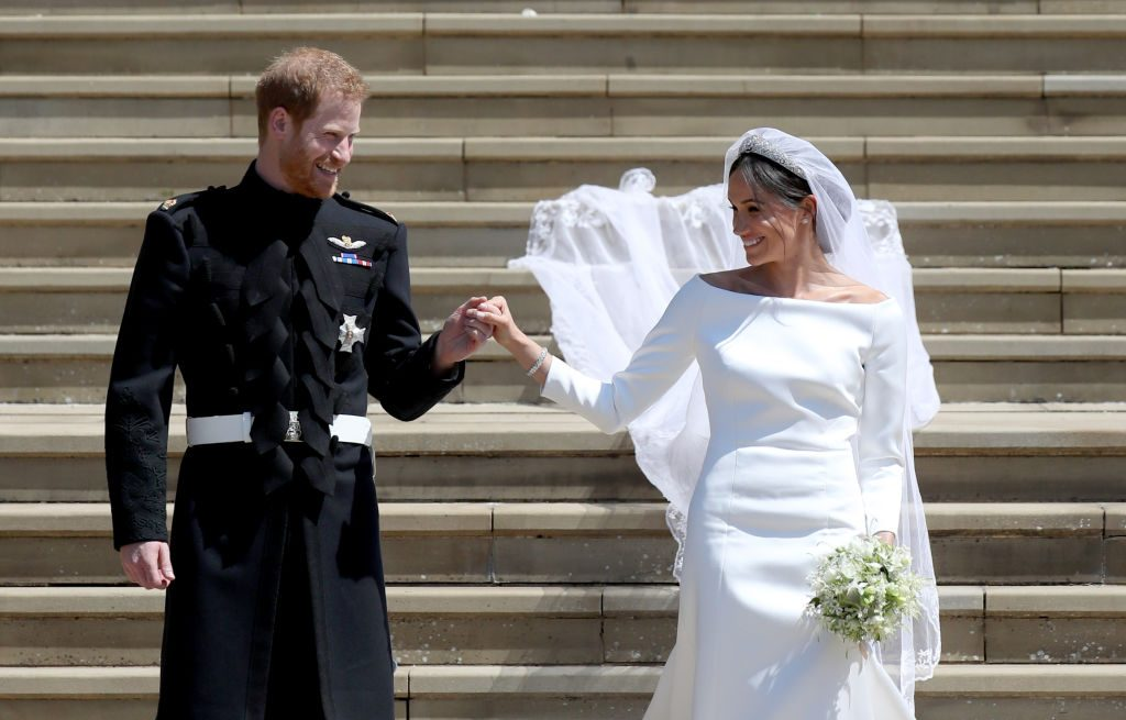 Prince Harry and Meghan Markle on their wedding day. | Jane Barlow/PA Images via Getty Images