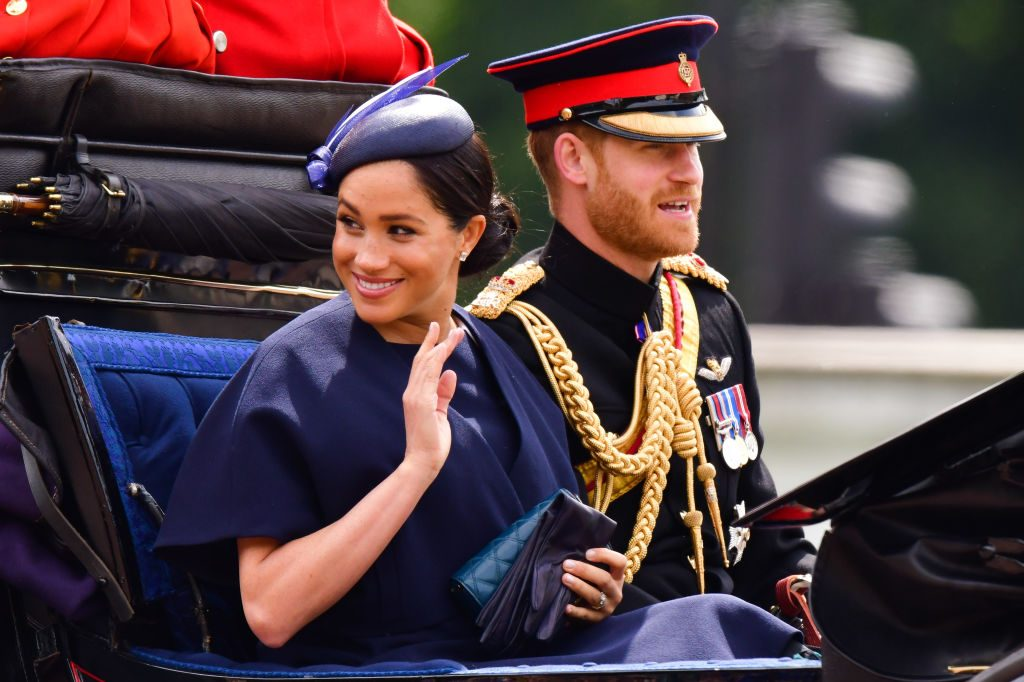 Prince Harry and Meghan Markle Trooping The Colour 2019