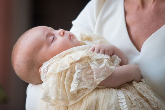 Prince Louis at christening on July 9, 2018.