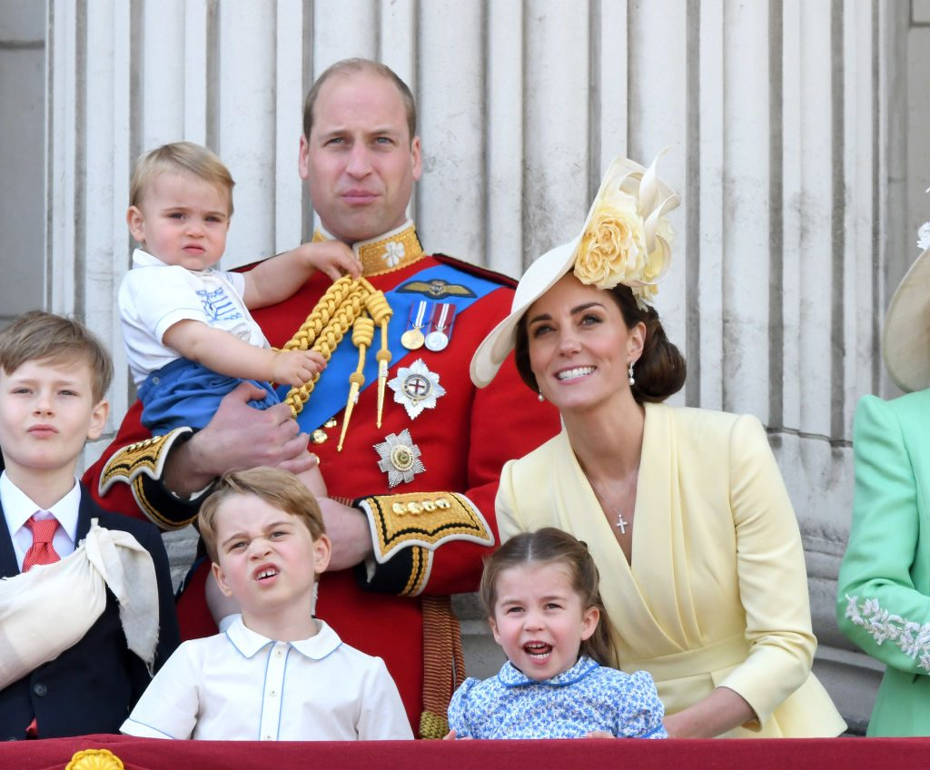 Prince Louis Borrows Prince Harry's Clothes  Trooping the Colour 2019