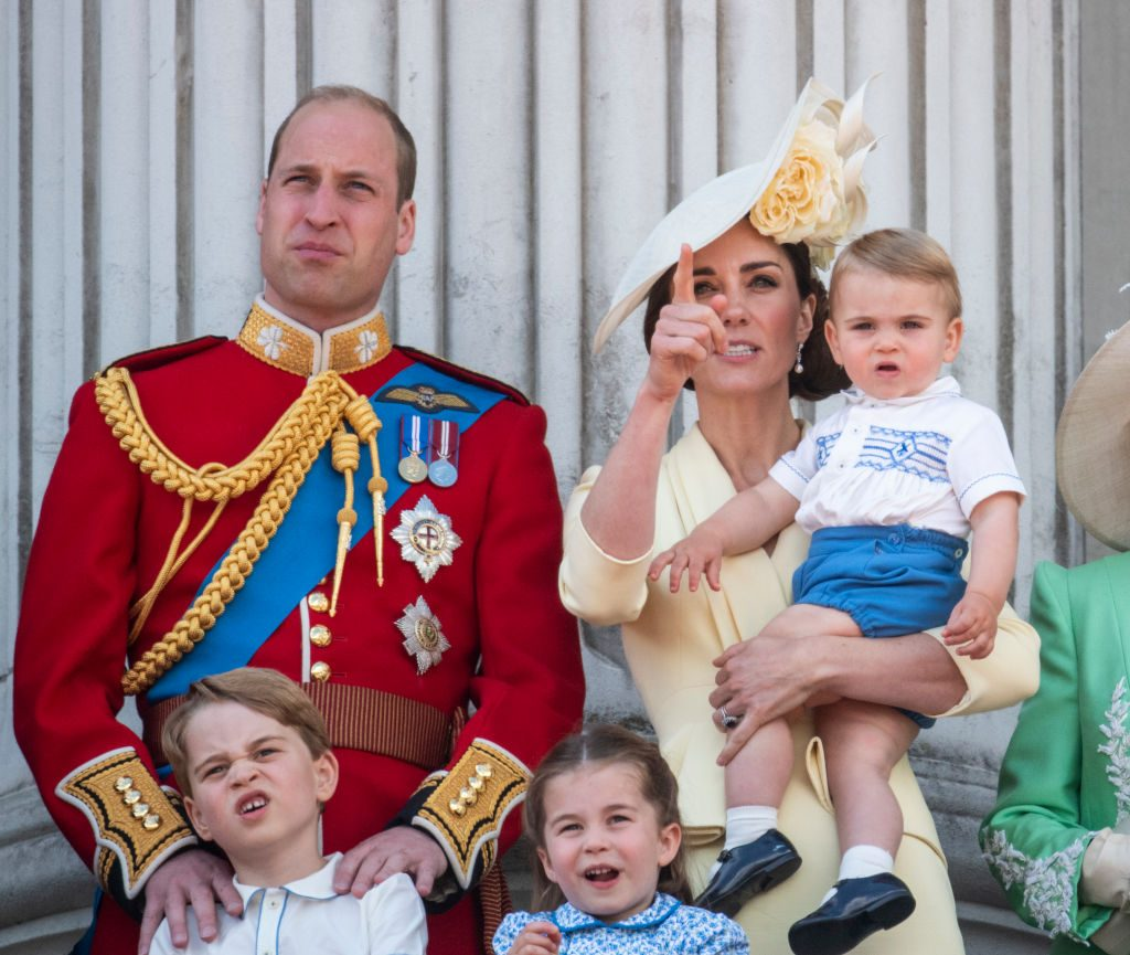 Prince William, Kate Middleton, Princess Charlotte, Prince George and Prince Louis, Trooping The Colour 2019