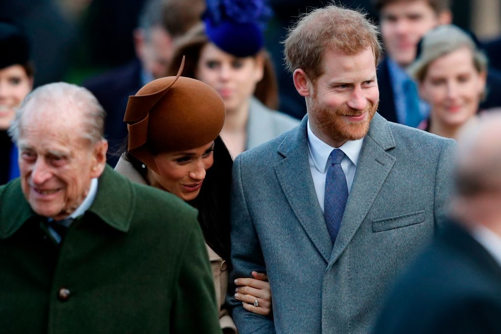 Prince Philip, Meghan Markle, Prince Harry   Adrian Dennis/AFP/Getty Images