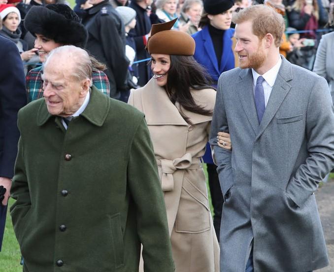 Prince Philip, Meghan Markle, and Prince Harry