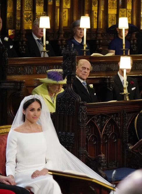 Prince Philip, Queen Elizabeth II, and Meghan Markle