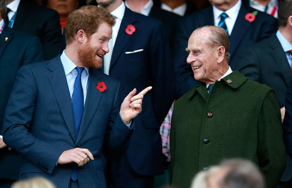 Prince Harry and Prince Philip