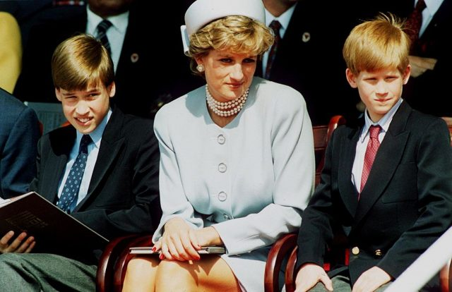 Prince William, Princess Diana, and Prince Harry
