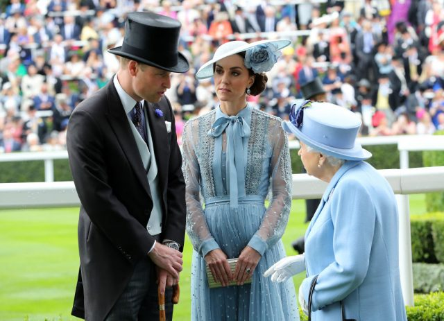Prince William, Kate Middleton, and Queen Elizabeth