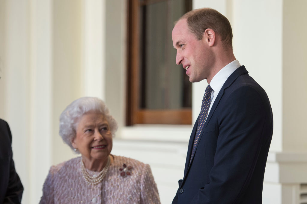 Prince William and Queen Elizabeth