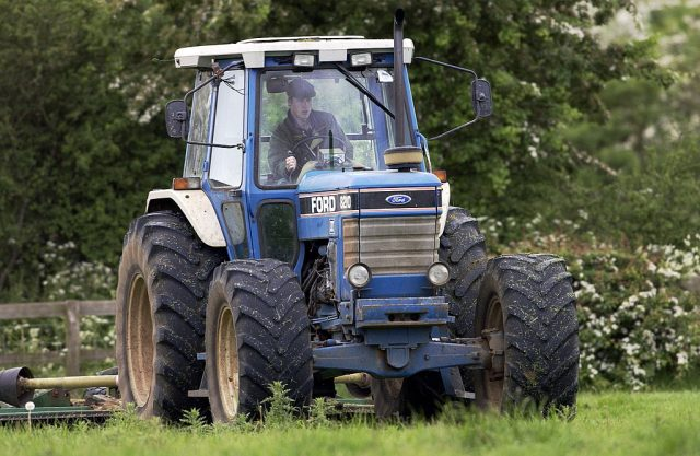 Prince William driving a tractor