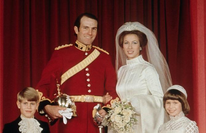 Princess Anne's wedding to Mark Phillips
