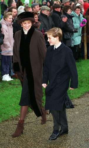 Princess Diana and Prince William in 1994