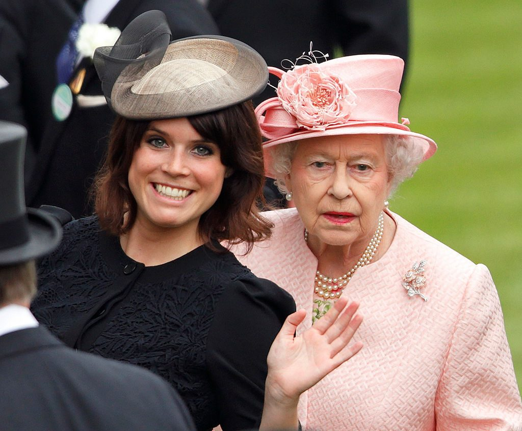 Princess Eugenie of York and Queen Elizabeth II