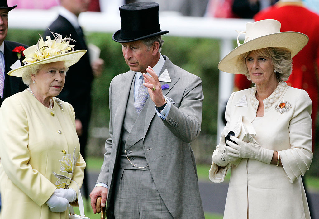 Queen Elizabeth, Prince Charles, and Camilla Parker Bowles