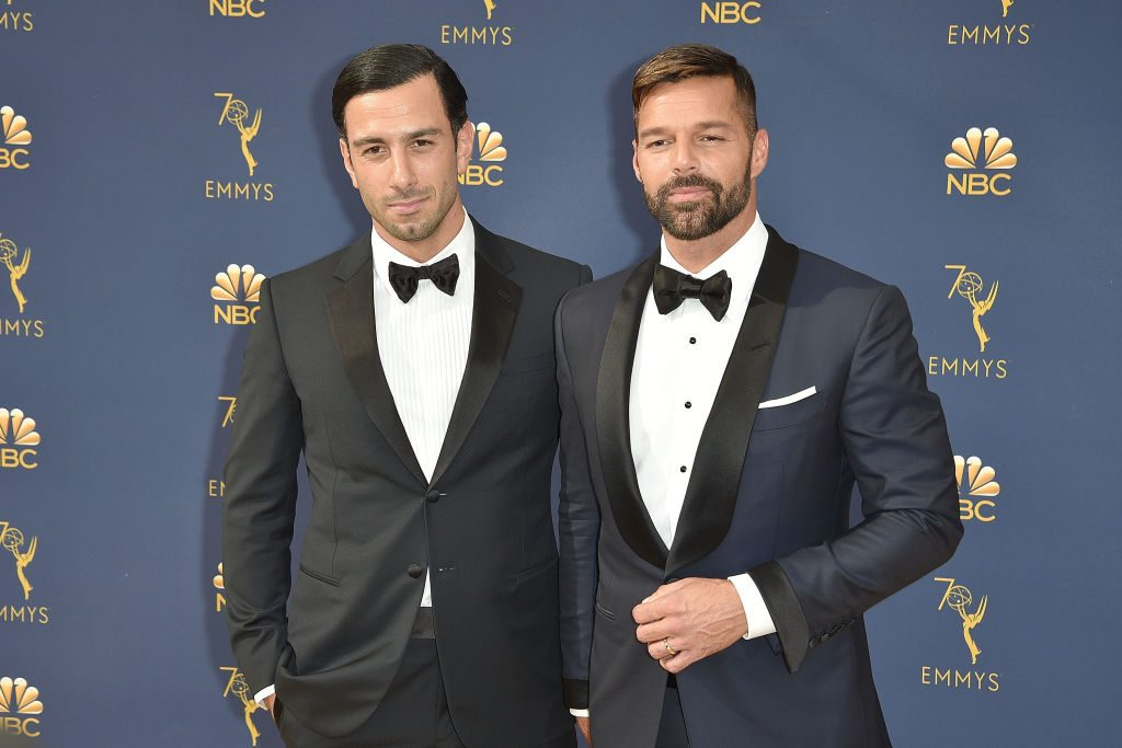 Artists Ricky Martin and Jwan Yosef