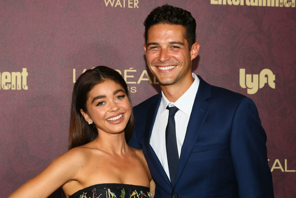 Actress Sarah Hyland and TV personality Wells Adams