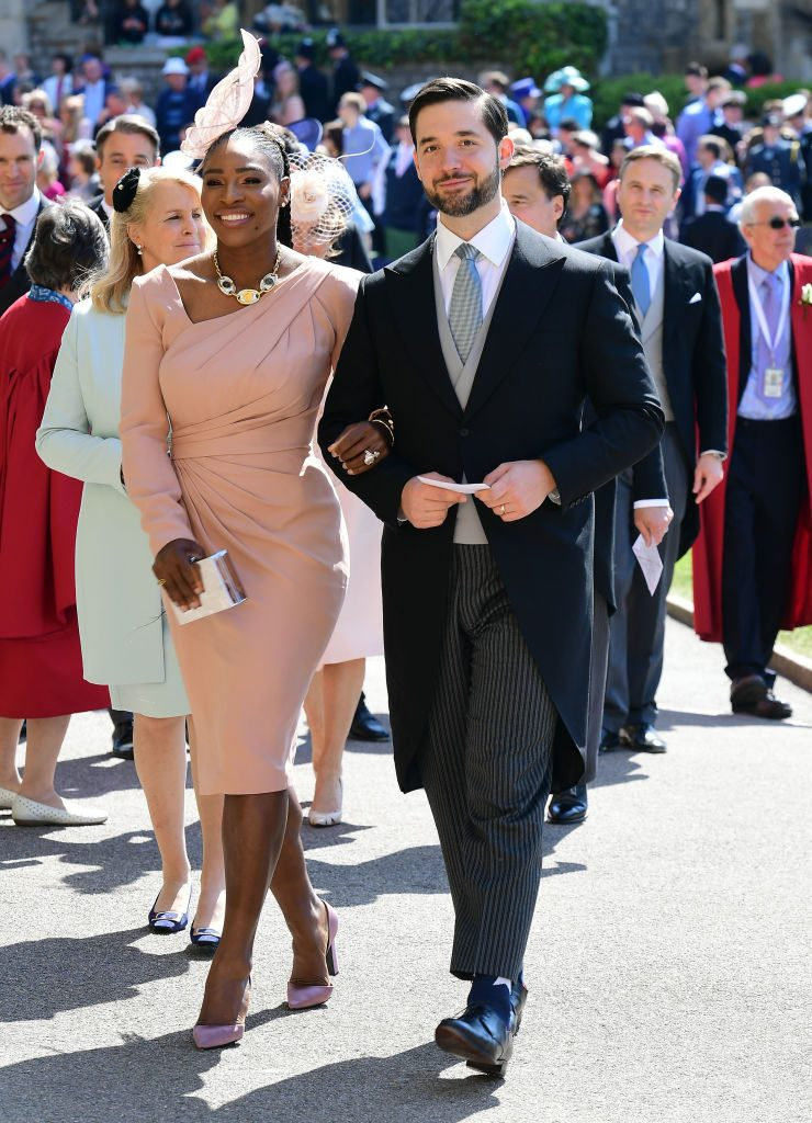 Serena Williams and Alexis Ohanian at Royal Wedding