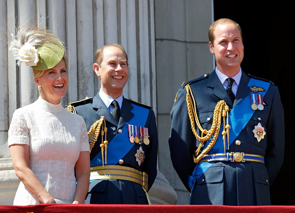 Sophie, Countess of Wessex with Prince Edward and Prince William