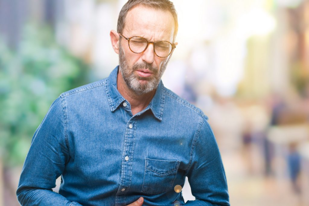 Middle age man with stomach pain