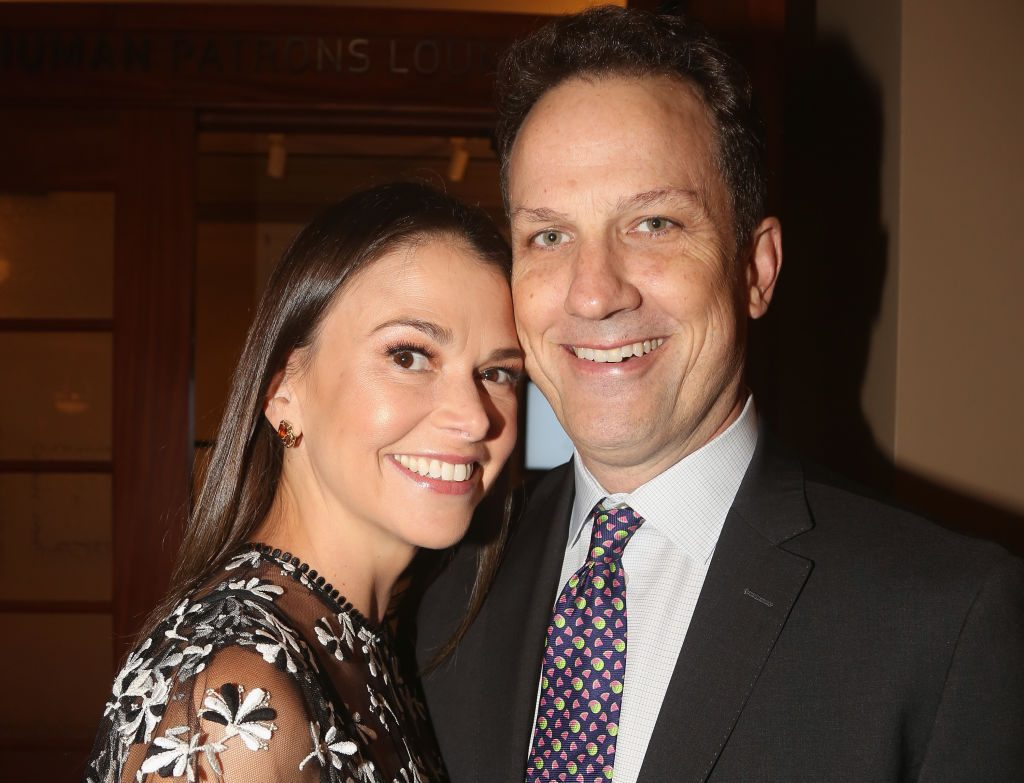 Sutton Foster and her husband, Ted Griffin