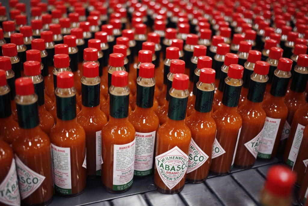 Tabasco sauce moves down the line