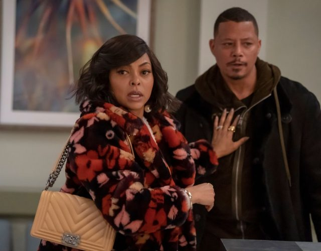 Taraji P. Henson and Terrence Howard in an episode of Empire