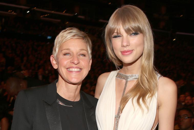 Ellen Degeneres and Taylor Swift
