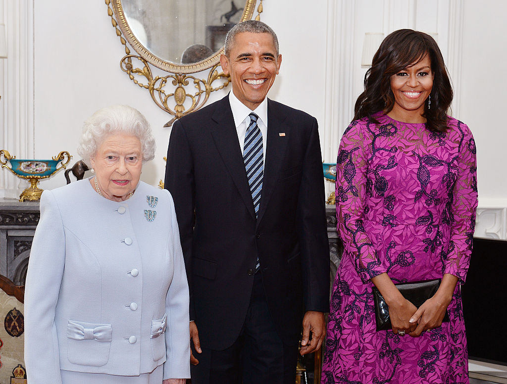 The Obamas with the Queen