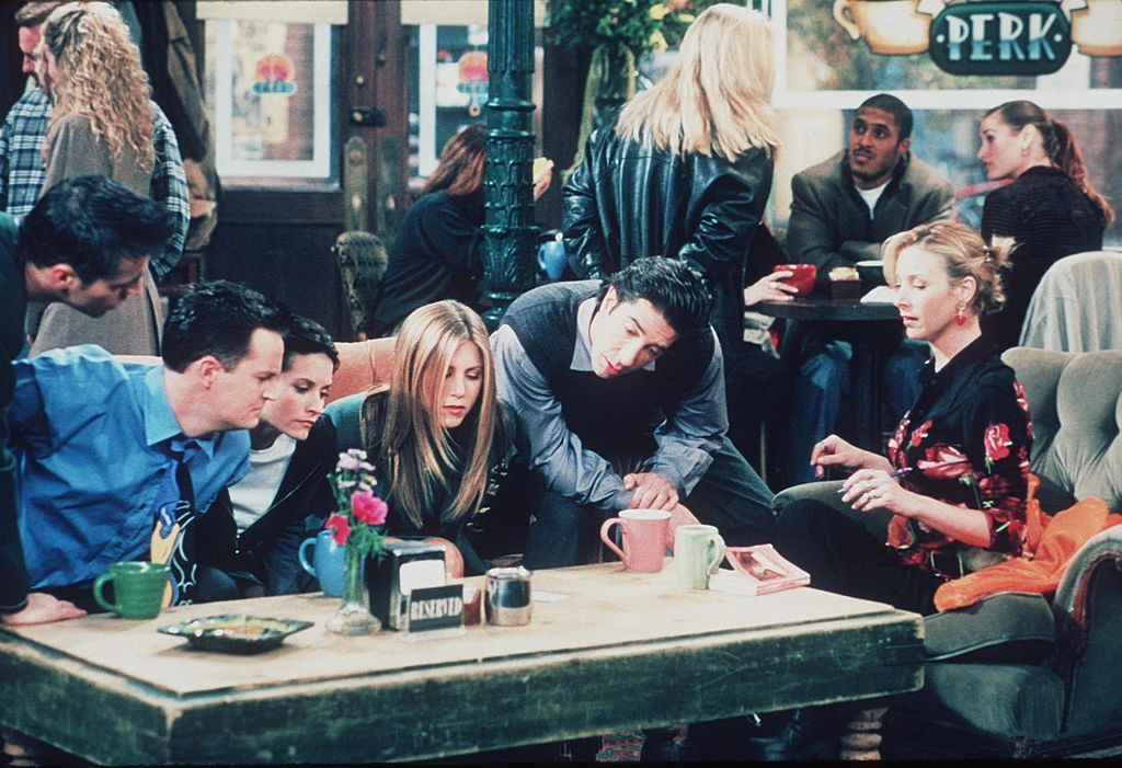 The cast of Friends at Central Perk Coffee Shop |  Getty Images