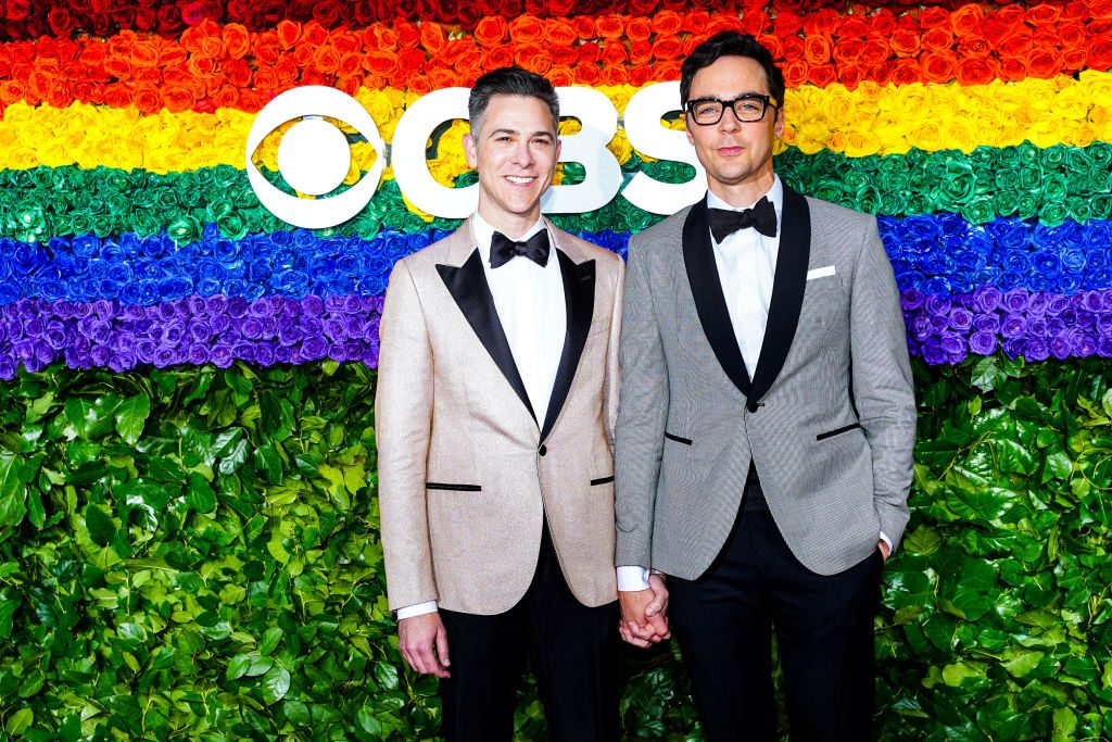 Todd Spiewak and Jim Parsons | Sean Zanni/Patrick McMullan via Getty Imagess