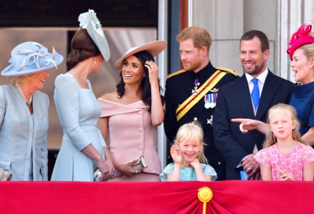 Meghan Markle and the rest of the Royal family at Trooping the Color 2018.