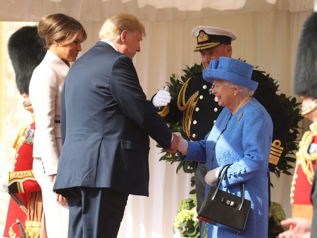 Donald Trump, Melania Trump, and Queen Elizabeth II | Photo by Chris Jackson/Getty Images