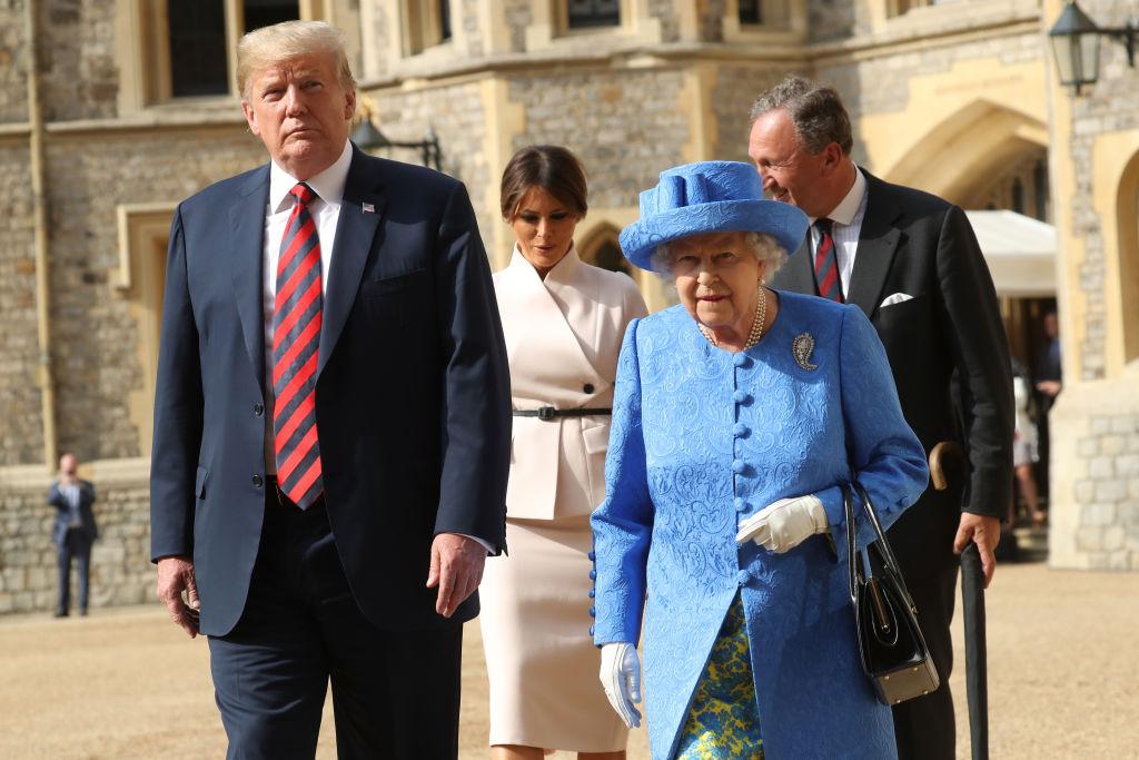 Trump and Queen Elizabeth